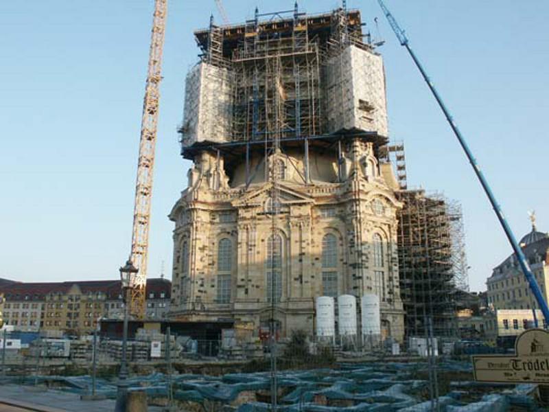 Wiederaufbau Frauenkirche  Dresden